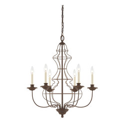 Quoizel - Quoizel LLA5006RA Laila 6 Light Chandeliers in Rustic Antique Bronze - This 6 light Chandelier from the Laila collection by Quoizel will enhance your home with a perfect mix of form and function. The features include a Rustic Antique Bronze finish applied by experts. This item qualifies for free shipping!
