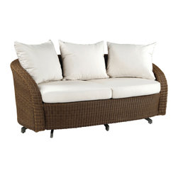 Carmel Settee - By Kingsley Bate - Our CARMEL deep seating settee is made from the finest all-weather fiber and has the authentic look and feel of real wicker.