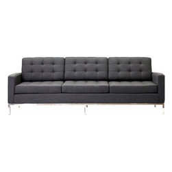 East End Imports - Loft Sofa in Wool Dark Gray - A style so classic you will recognize it instantly, this beautiful set will fill your living room with joy. Each piece is crafted for optimum comfort and fashion. Furnish your space with the best of modern classics.