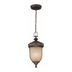 Lite Source - Lite Source Shanton Tranditional Outdoor Hanging Lantern XSL-13191 - From the Shanton Collection, this Lite Source outdoor hanging lantern features classic details that help give it a charming historic feel. The frame, which comes finished in a Dark Bronze, features classic beveling that compliments the creamy tones of the light amber diffuser.