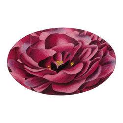 """Purple Rose Tray - John Derian 14"""" oval platter."""