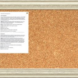 Amanti Art - 'Country Whitewash Cork Board - Medium' Framed Art Print 28 x 20-inch - This cork message board features a lovely cream colored frame with a distressed, weathered finish and is perfect for a country, shabby-chic decor.