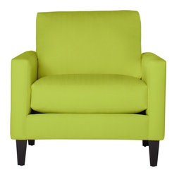 Apt2B - The Clark Chair, Chartreuse - his handsome sofa collection will never go out of style. With a low profile and comfortable seat, this classic silhouette will be a staple in your room for years to come. Each piece is expertly handmade to order in the USA and takes around 2-3 weeks in production. Features a solid hardwood frame and upholstered in a 100% polyester fabric.