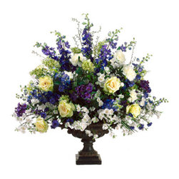 Silk Plants Direct - Silk Plants Direct Blossom, Candytuft, Delphinium and Veronica (Pack of 1) - Pack of 1. Silk Plants Direct specializes in manufacturing, design and supply of the most life-like, premium quality artificial plants, trees, flowers, arrangements, topiaries and containers for home, office and commercial use. Our Blossom, Candytuft, Delphinium and Veronica includes the following: