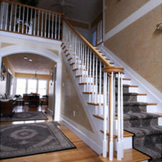 Traditional Staircase by Cummings Architects