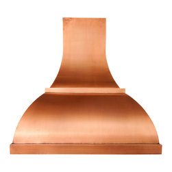 World CopperSmith™ - Arisan Copper Range Hood by World CopperSmith - Featuring an artistic blend of round and square edges, this range hood proves to challenge for even our most talented coppersmiths. Like you, this range hood is not afraid to be different. A light is patina is applied, brushed and sealed for a maintenance free finish. Money back guarantee, free Shipping.