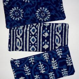 Indigo blue batik, shibori, tie-dye and block print -