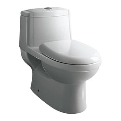 """Ariel - Ariel Platinum """"Anna"""" Contemporary One Piece White Toilet 27x16x24.6 - Ariel cutting-edge designed one-piece toilets with powerful flushing system. It's a beautiful, modern toilet for your contemporary bathroom remodel."""