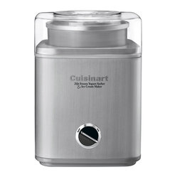 Cuisinart - Cuisinart Pure Indulgence 2-Quart Frozen Yogurt, Sorbet and Ice Cream Maker - Heavy-duty motor makes frozen desserts or drinks in as little as 25 minutes