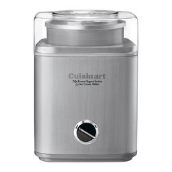 Cuisinart - Cuisinart Pure Indulgence 2-Quart Frozen Yogurt. Sorbet and Ice Cream Maker - Heavy-duty motor makes frozen desserts or drinks in as little as 25 minutes