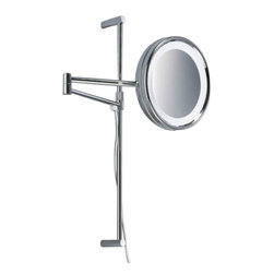"""Decor Walther - Decor Walther SPT 27/V Cosmetic Mirror - The SPT 27/V Cosmetic Mirror cosmetic mirror has been designed and made by Decor Walther.  The noble chrome surface of the    vanity  mirror looks very valued and  make applying makeup, shaving  and   other  activities easier and more  enjoyable. The SPT 27/V cosmetic mirror available  in a 8-fold  magnification. Hight adjustable cable and switch on backside direct  connection not possible.  Product Details:  The SPT 27/V Cosmetic Mirror cosmetic mirror has been designed and made by Decor Walther.  The noble chrome surface of the    vanity  mirror looks very valued and  make applying makeup, shaving  and   other  activities easier and more  enjoyable. The SPT 27/V cosmetic mirror available  in a 8-fold  magnification. Hight adjustable cable and switch on backside direct  connection not possible.  Details:                                      Manufacturer:                                      Decor Walther                                                                  Designer:                                     In House Design                                                                  Made in:                                     Germany                                                                  Dimensions:                                      Diameter: 10.24"""" (26 cm) X Heigh: 20.47"""" (52 cm) X Depth: 20.87"""" (53 cm)                                                                   Light bulb:                                      1 x G23 Max 7W                                                                  Material:                                      Metal"""