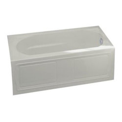KOHLER K-1184-RA-95 Devonshire Bath with Integral Apron, Tile Flange and Right-H