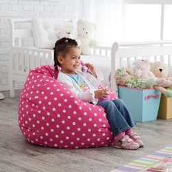Small Twill Dottie Lounger Bean Bag Chair - Bean bags are fun and functional for you little one's space. This company has a myriad of options in terms of both size and color.
