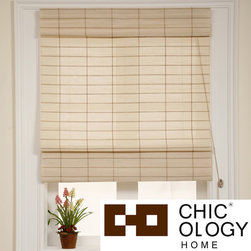 None - Chicology Kyoto Cappuccino Roman Shade (24 in. x 72 in.) - These natural woven roman shades provide softened light and moderate privacy which allows you to get the right amount of sun during the day and privacy at night. Perfect for your home or office.