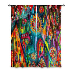"""DiaNoche Designs - Window Curtains Lined by Michele Fauss - Magic Mountain - Purchasing window curtains just got easier and better! Create a designer look to any of your living spaces with our decorative and unique """"Lined Window Curtains."""" Perfect for the living room, dining room or bedroom, these artistic curtains are an easy and inexpensive way to add color and style when decorating your home.  This is a woven poly material that filters outside light and creates a privacy barrier.  Each package includes two easy-to-hang, 3 inch diameter pole-pocket curtain panels.  The width listed is the total measurement of the two panels.  Curtain rod sold separately. Easy care, machine wash cold, tumble dry low, iron low if needed.  Printed in the USA."""