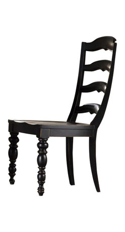 Hooker Furniture - Beaufort House Ladderback Side Chair - Set of 2 - Dark - White glove, in-home delivery included!  The Beaufort House collection is crafted from rubberwood and poplar solids with maple veneers.  It is the perfect amount of style, grace and comfort.  Set of two chairs.