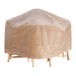 """Duck Covers 64""""L Square Patio Table and Chairs Cover with Inflatable Airbag - Patio Table & Chair Set Cover - Square - Actual Size - 64"""" L x 64"""" W x 29"""" H"""