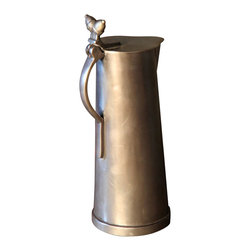 BoBo's Intriguing Objects - Acorn Water Pitcher - To serve with style, add this handsome lidded pitcher to your table. Modeled on vessels used in Belgian taverns, its pewter finish is refined-not-flashy, and the acorn accents are an earthy touch.