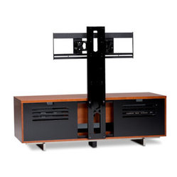 BDI - Arena Flat Panel TV Mount - Don't punch out big holes in your wall to mount your TV. Add this intuitive piece to your home theater and you won't be puttying and painting when it comes time to move.