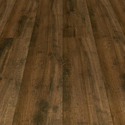 Laminate Flooring - Master Design 10.3mm Whiskey Barrel Oak Brown Laminate with Attached Pad