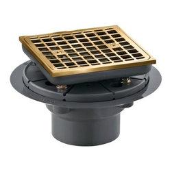 KOHLER - KOHLER K-9136-BV Square Design Tile-In Shower Drain in Vibrant Brushed Bronze - KOHLER K-9136-BV Square Design Tile-In Shower Drain in Vibrant Brushed Bronze