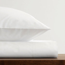 Area - Area Stella White 400 Thread Count Cotton Fitted Sheet - 400TC cotton percale in white. Duvet covers and sheets sold seperately. Pillowcases sold in pairs.