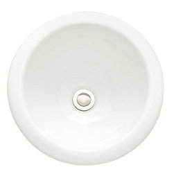"American Standard - American Standard 0571.000.020 Royton Countertop Sink, White - American Standard 0571.000.020 Royton Countertop Sink, White. This countertop sink has a vitrous china construction, a self-rimming design, a center drain outlet, and a front overflow. It measures 13-3/4"" round, and a 5-1/2"" deep bowl."