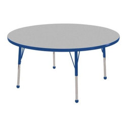 ECR4KIDS Gray Round Adjustable Activity Table - 36 in. - About Early Childhood ResourcesEarly Childhood Resources is a wholesale manufacturer of early childhood and educational products. It is committed to developing and distributing only the highest-quality products ensuring that these products represent the maximum value in the marketplace. Combining its responsibility to the community and its desire to be environmentally conscious Early Childhood Resources has eliminated almost all of its cardboard waste by implementing commercial Cardboard Shredding equipment in its facilities. You can be assured of maximum value with Early Childhood Resources.