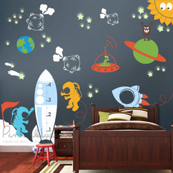 Outer Space Kids Decal - PinknBlueBaby