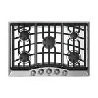 "Viking 3 Series 30"" Gas Cooktop, Stainless Steel Natural Gas 