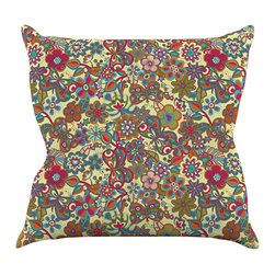 """Kess InHouse - Julia Grifol """"My Butterflies & Flowers in Yellow"""" Throw Pillow (18"""" x 18"""") - Rest among the art you love. Transform your hang out room into a hip gallery, that's also comfortable. With this pillow you can create an environment that reflects your unique style. It's amazing what a throw pillow can do to complete a room. (Kess InHouse is not responsible for pillow fighting that may occur as the result of creative stimulation)."""