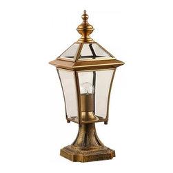 ParrotUncle - Brass Lantern Shaped Polished Bronze Lamp - Brass Lantern Shaped Polished Bronze Lamp