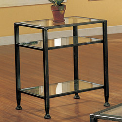 Upton Home - Bunch Metal Glass End Table - A sleek table collection with a contemporary design,this table will take your living room to a new level of style.