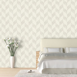 "Distressed Chevron Wallpaper, Plastered, 25"" X 7.5' - ""Swag Paper - Empowering the Do-It-Yourselfer:"