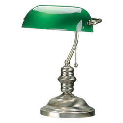 "Lite Source - Lite Source LS-224AB Antique Brass Banker I Traditional / Classic Desk - Banker LampThese banker desk lamps will take you to new standards of style offering solid brass or antique brass finishes and green glass shade. The shade is adjustable to meet your reading needs.60W Incandescent A Type Bulb(Bulb Not Included)E-27 (Medium Base)14.5""Height9""W x 5.5""H ShadeOn/Off Pull Chain SwitchShade Dimensions: 9"" x 5.5"""