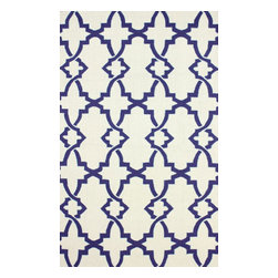 nuLOOM - Contemporary 5' x 8' White Hand Hooked Area Rug Nedelya Trellis - Made from the finest materials in the world and with the uttermost care, our rugs are a great addition to your home.