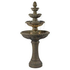 Traditional Outdoor Fountains And Ponds by soothingwalls.com