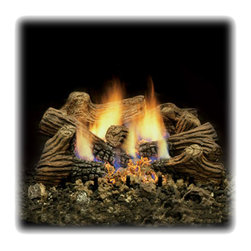 """Monessen - MONESSEN CTCL24 6 Piece Fireplace Charred Log Set 24"""" Fiber Ceramic - From finishes that are guaranteed to last a lifetime, to faucets that balance your water pressure perfectly, the Moen series sets the standard for exceptional beauty and reliable, innovative design."""