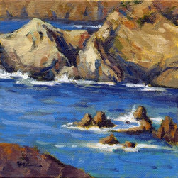 """""""Coastal Cruising No. 4 By Konnie Kim 520929, Painting"""" - This little gem was painted on location on a recent camping/painting trip up the amazing California coast. It is painted on a canvas panel."""