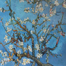 overstockArt.com - Van Gogh - Branches Of An Almond Tree In Blossom - Hand painted oil reproduction of a famous Van Gogh painting, Branches of an Almond Tree in Blossom. The original masterpiece was created in 1890. Today it has been carefully recreated detail by detail, color by color to near perfection. Van Gogh created this painting as a gift for his newborn nephew. The way he made is brush strokes were fitting to the baby because he combined a sense of fragility and energy. A joyous and hopeful image for the child's future. Vincent Van Gogh's restless spirit and depressive mental state fired his artistic work with great joy and, sadly, equally great despair. Known as a prolific Post-Impressionist, he produced many paintings that were heavily biographical. This work of art has the same emotions and beauty as the original. Why not grace your home with this reproduced masterpiece? It is sure to bring many admirers!