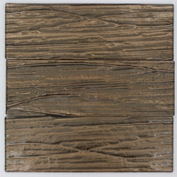 Terrene Copper Beech 4x12 Glass Tile - TERRENE COOPER BEECH 4X12 GLASS TILE This striking glass can make any room aesthetically appealing. The wavy finish brings a distinctive design and will add a nice touch for a contemporary and modern room. This tile is great to use for the bathroom, kitchen or pool installation. Chip Size: 4X12 Material: Glass Color: Metallic Cooper Finish: Polish Sold by the Square Foot - Glass Tiles -