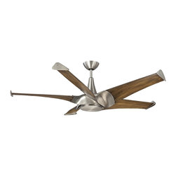 "Savoy House - Ariel 58"" 5 Blade Ceiling Fan - Ariel ceilng fans are, sleek and modern. The blades on this collection were crafted in the style of turbines, resulting in 20 percent more airflow with 20 percent less energy consumption. Maximum air movement with maximum style!."