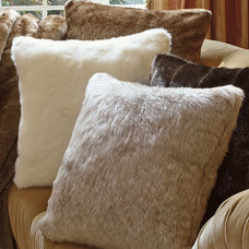 Traditional Decorative Pillows Luxury Faux Fur Pillow