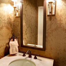 Traditional Powder Room by Avalon Interiors