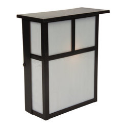 Craftmade - Craftmade Z1840 Mission 1 Light Outdoor Wall Washer - Craftmade 1 Light Outdoor Wall Washer from the Mission CollectionFeatures: