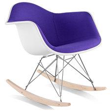 Eames® Molded Armchair Upholstered Rocker Base - hivemodern.com