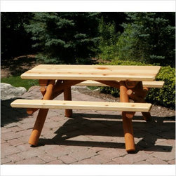 Moon Valley Nicholas Collection Child's Picnic Table - Constructed of white cedar & white pine