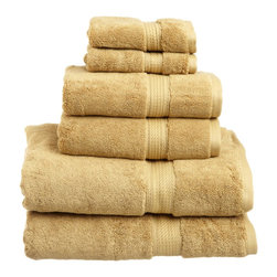 """ExceptionalSheets - 900 Gram Towel Set Egyptian Cotton Towels by ExceptionalSheets - Experience these Superior 100-percent Egyptian cotton absorbent 600 and 900 Grams per Square Meter towels.  They are a beautiful update to ANY bathroom, and will not fade in the washing machine!  Available in multiple colors and sizes, these Egyptian cotton towels can fit any need. Let us help you turn your bathroom into your own personal spa or 5-Star hotel room at a fraction of the cost!  Towel Set Includes: Two Bath Towels - 30""""x55"""" each. Two Hand Towels - 20""""x30"""" each. Two Face Towels - 13""""x13"""" each. Color options: Black, Chocolate, Charcoal, Cream, Forest Green, Latte, Light Blue, Navy Blue, Olive Green, Plum, Purple, Red, Rust, Seafoam, Stone, Teal, Toast, Tea Rose, White Pattern: Solid Terry Cloth 2-PLY Materials: 100% Egyptian Cotton.  Each towel is featured with a hanging hook for easy hanging. Care instructions:  Machine Washable Imported"""