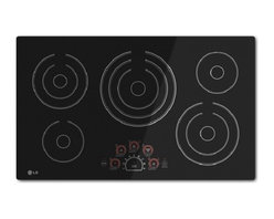 "LG - LCE3610SB 36"" Smoothtop Electric Cooktop With 5 Steady Heat Radiant Elements  Sm - Cooking performance meets modern design in this LG radiant cooktop Steady Heat cooking elements deliver constant heat at any temperature for more precise heat control and provide a quick response to every temperature adjustment SmoothTouch controls a..."