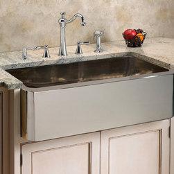 "Fresh Farmhouse Sinks - Keely Nickel Plated Copper Farmhouse Sink - 33"""